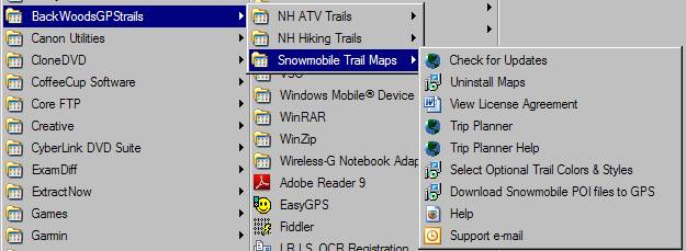 Downloading Trail Maps With MapSource Umbagog Designs LLC - Can you download us trail maps to garmin