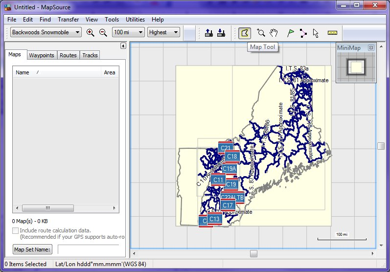 Downloading Trail Maps with MapSource - Umbagog Designs LLC on