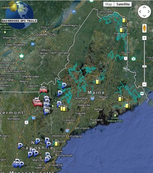 New Hampshire and Maine ATV Trail map for GPS